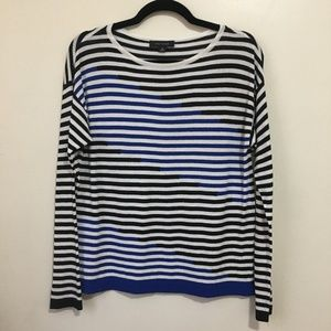 ANN TAYLOR striped scoop neck sweater P23